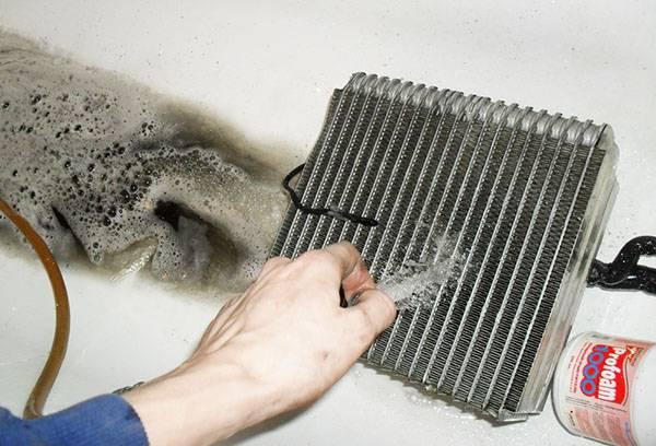 Мытье теплообменника кондиционера