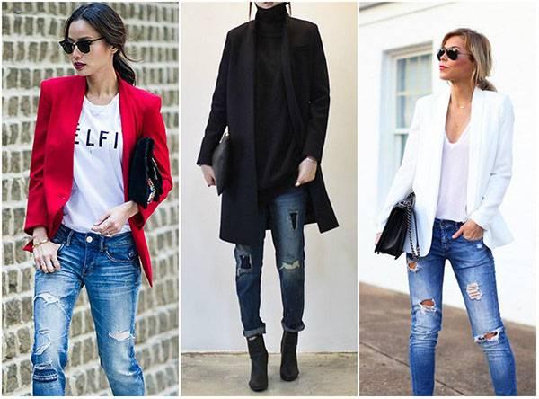 Стили потертых джинсов