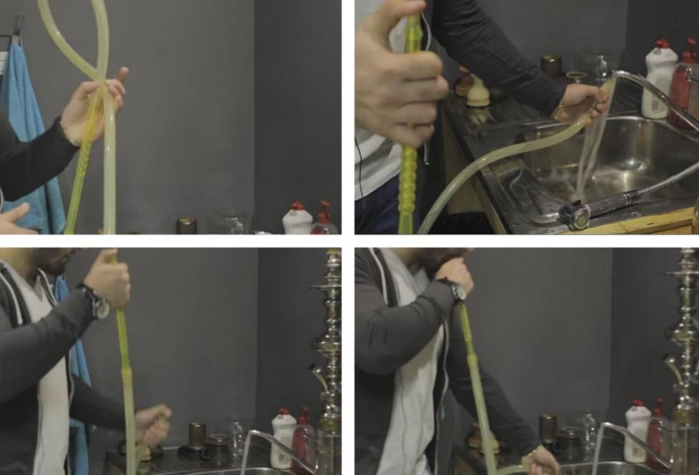 чистка шланга кальяна