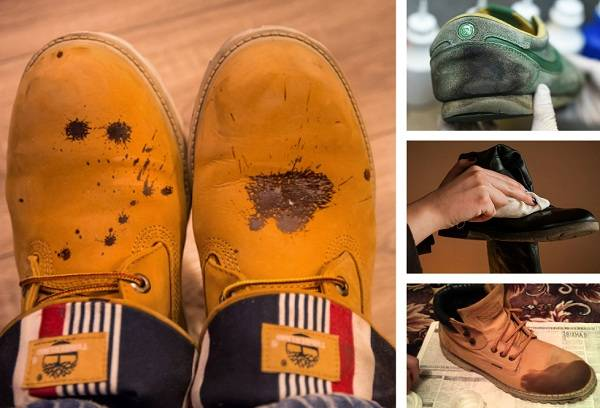 битумные пятна на обуви