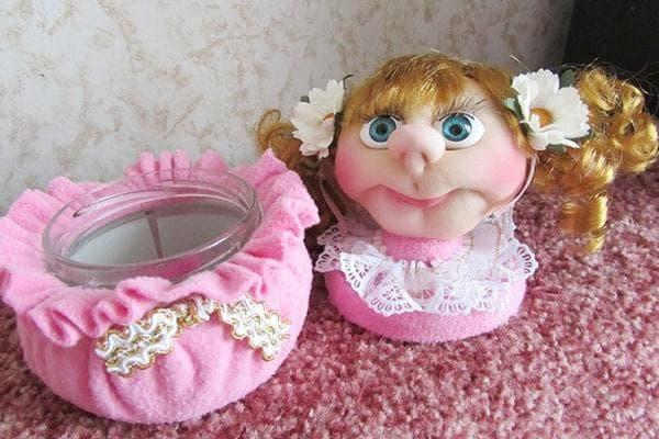 Голова куклы из капронового чулка