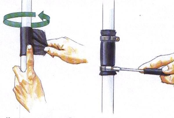 Герметизация трубы
