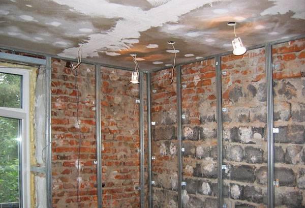 Подготовка стен к монтажу гипсокартона