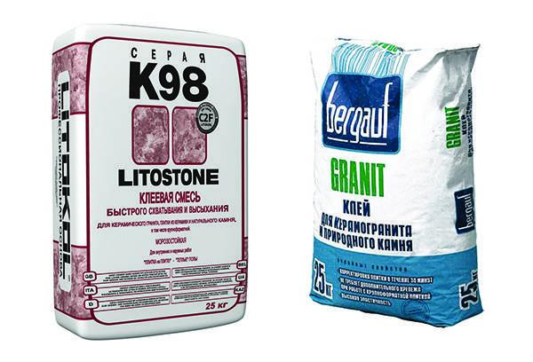 Два вида клея для искусственного камня