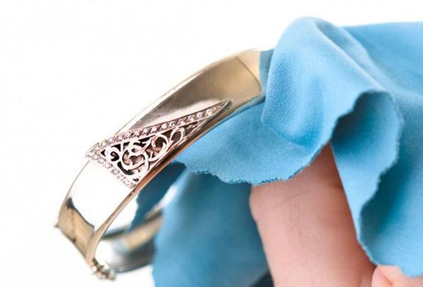 Полировка позолоченного кольца