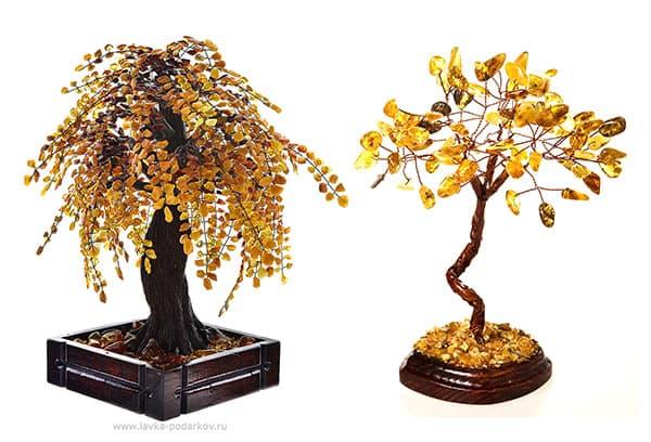 Деревья из янтаря