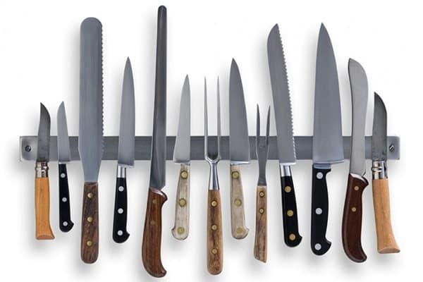 Разные виды кухонных ножей