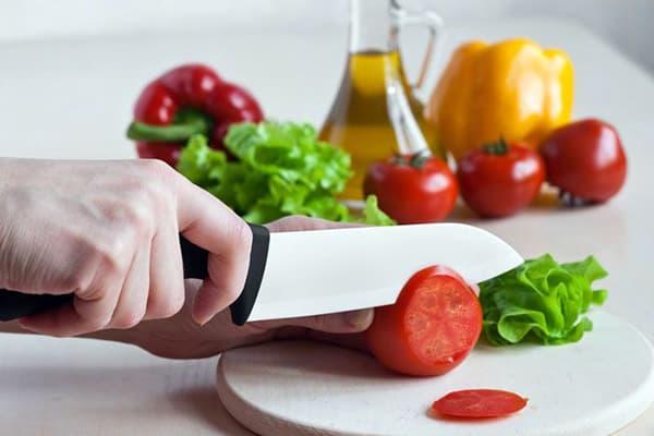 Нарезка овощей керамическим ножом