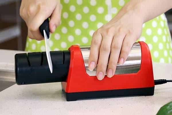 Заточка керамического ножа электрической точилкой