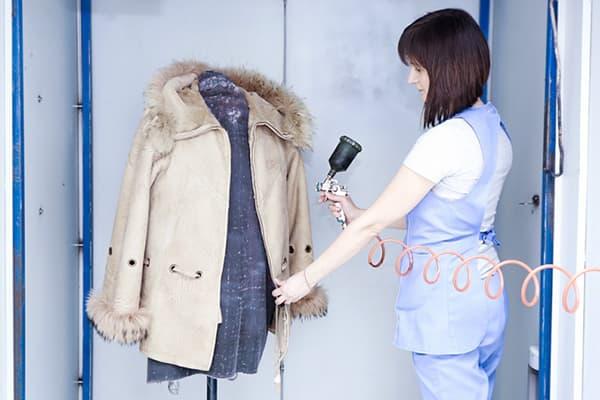 Замшевая куртка в химчистке