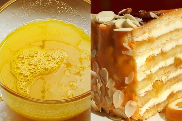 Апельсиновый сироп для пропитки бисквитов