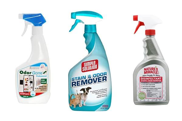 Химические средства для выведения запаха мочи животных