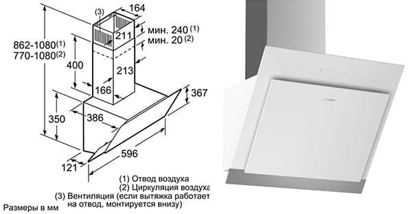 Кухонная вытяжка Bosch комбинированного типа