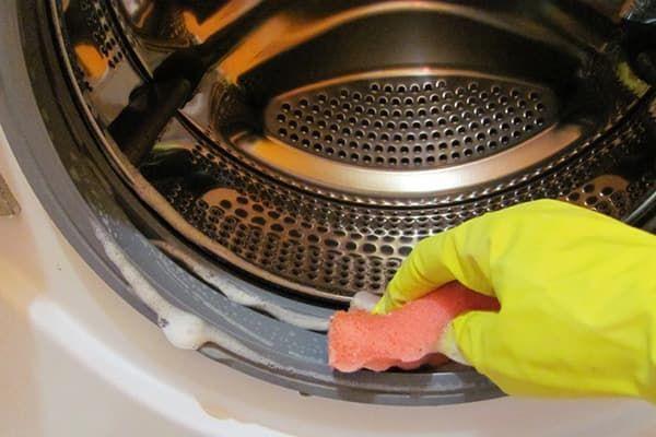 Мытье уплотнительной резинки стиральной машины