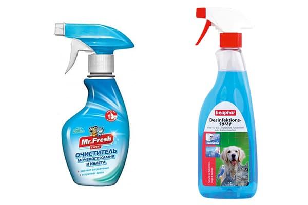 Современные средства для мытья кошачьих лотков