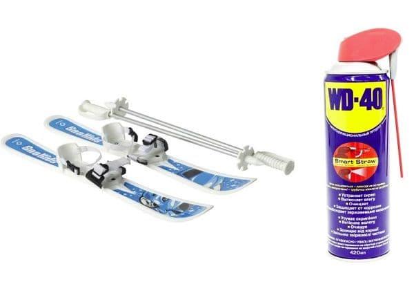 WD-40 для смазки лыж