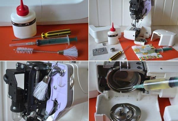 Шетки и масло для смазки машинки