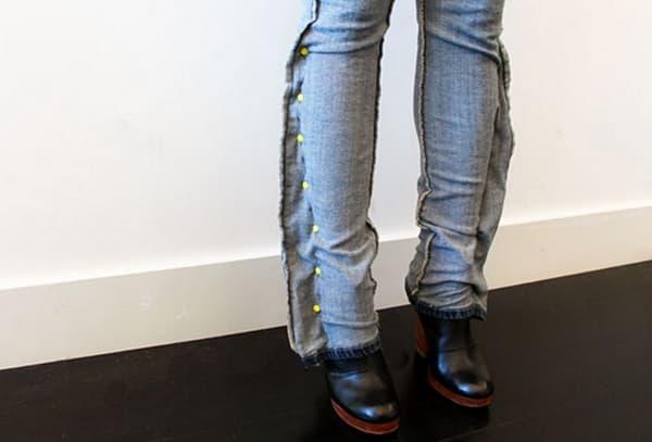 Наметки для ушивание джинсов по бокам