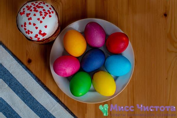 Яйца, окрашенные промышленными красителями
