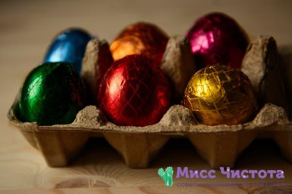 Яйца, обернутые фольгой