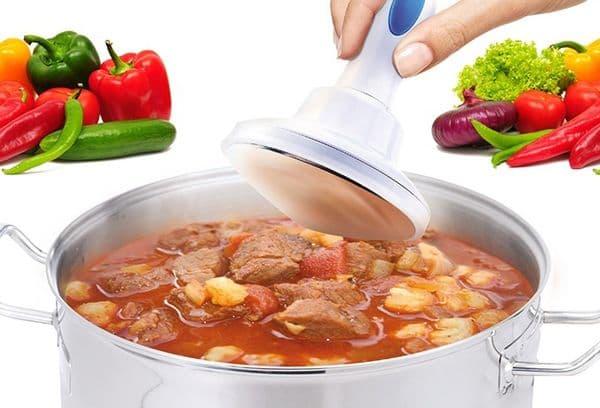 удаление жира кухонным гаджетом
