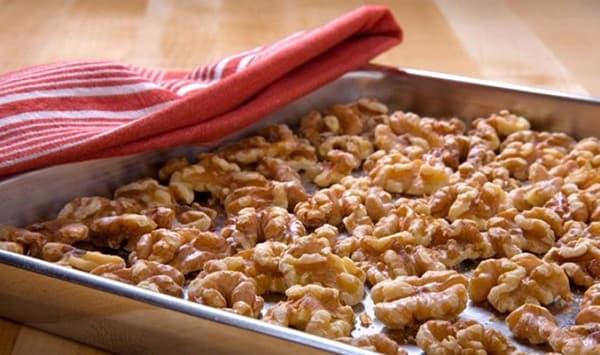 Сушка ядер грецких орехов