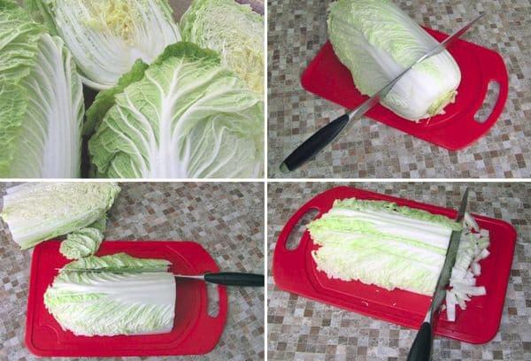 Правильная чистка и нарезка капусты