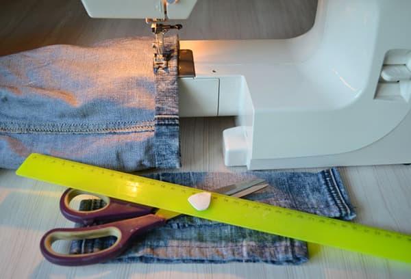 Подшивание джинсов