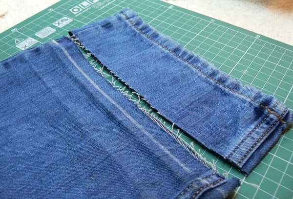 Укорачивание джинсов