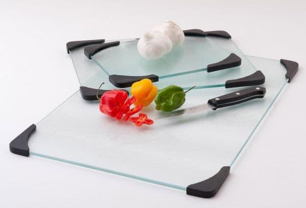 Стеклянная кухонная доска