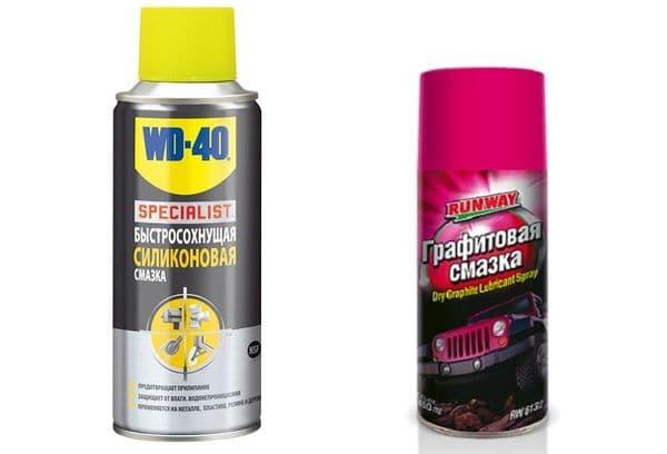 графитовая и силиконовая смазка-спрей