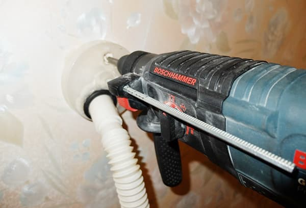 Самодельная насадка на пылесос для работы с перфоратором