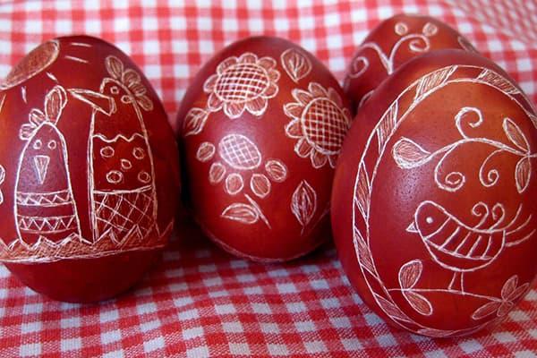 Пасхальные яйца - драпанки