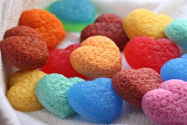 Разноцветное мыло ручной работы