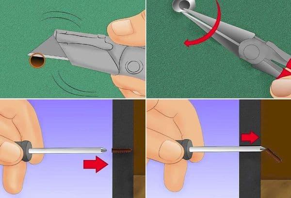 Как вытащить дюбель гвоздь из бетонной стены