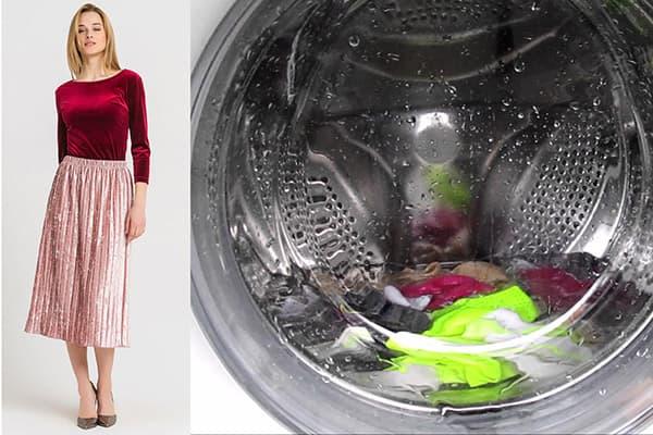 Машинная стирка одежды из велюра
