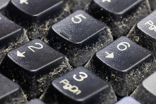 Пыльная клавиатура