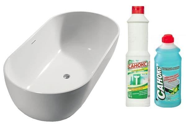 Чистящее средство Санокс и ванна