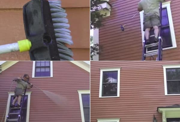 Чистка фасада дома