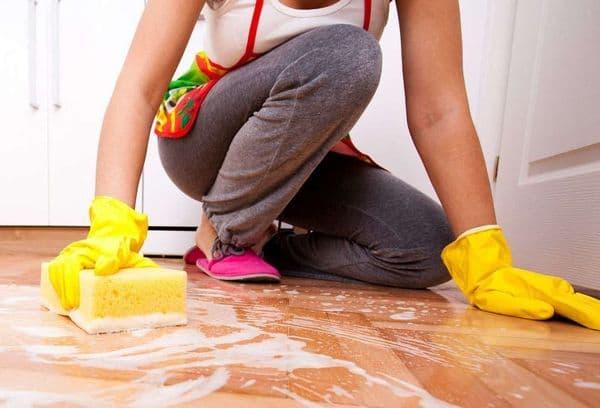 Мытьё полов порошком