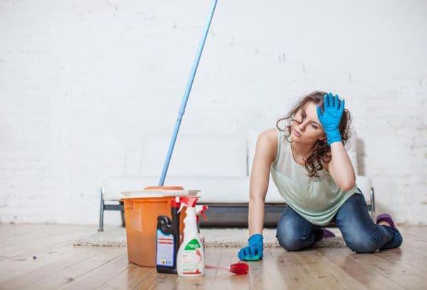 чистка и мытья пола