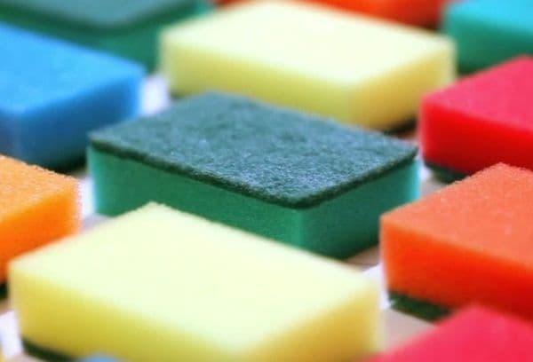 Цветные губки для посуды