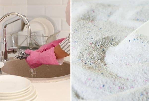 порошок и мытье посуды