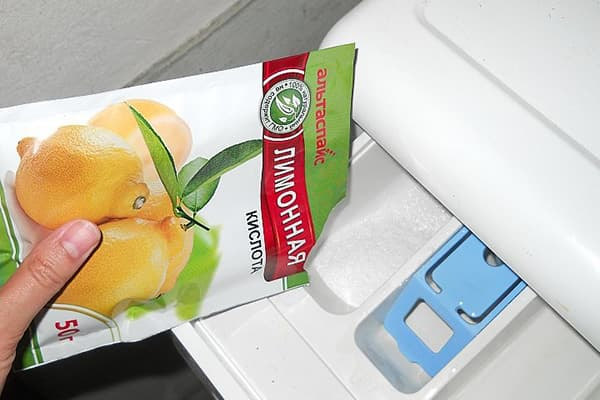 Добавление лимонной кислоты в стиральную машину