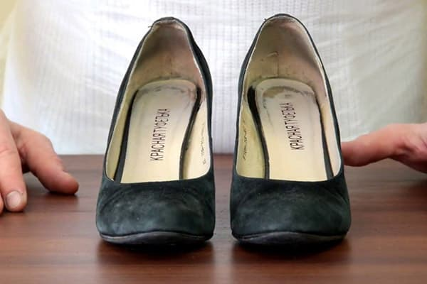 Промокшие замшевые туфли