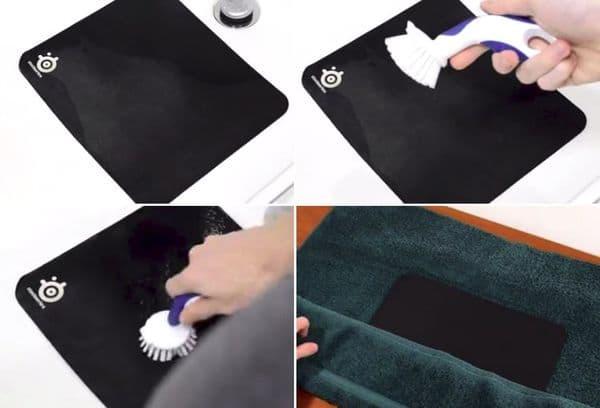 Чистка ковра для мыши