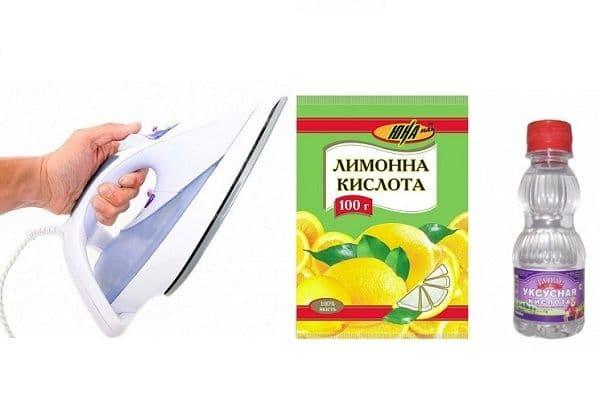 Утюг, уксус и лимонная кислота