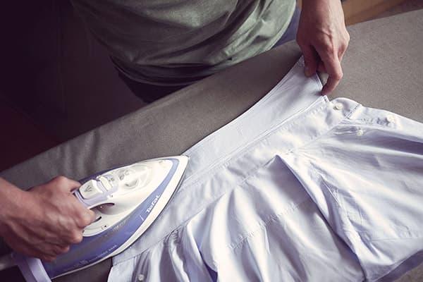 Утюжка воротника рубашки