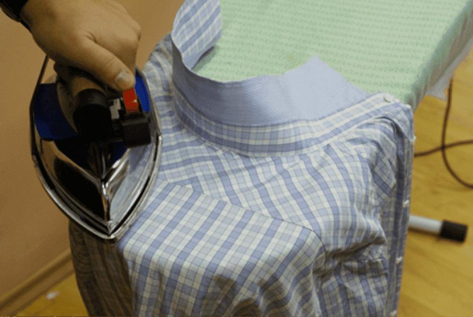 Глажка клетчатой рубашки