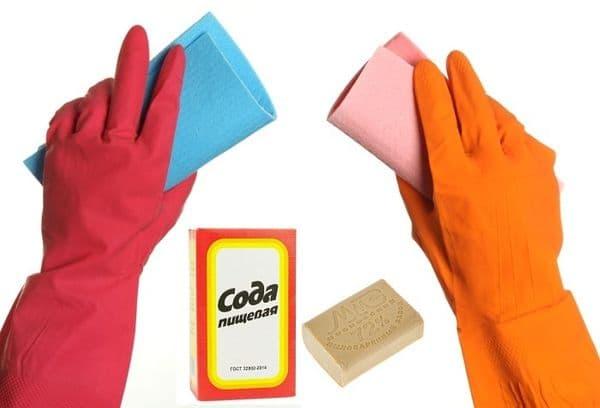 Мыло и сода для чистки